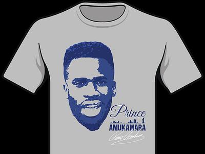 Prince Amukamara T Shirt Design typography new york vector art graphic design t shirt design new york giants prince amukamara