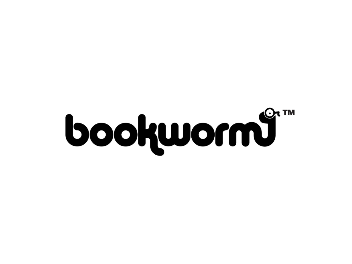 Bookworm Logo Design typography bookstore books reading bookshop logo branding design 30 day logo challenge thirtylogos branding graphic design