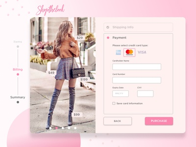 Credit Card Form for Shopthelook