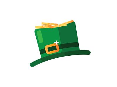 Saint Patrick's Day Icon lucky charm leprechaun hat hat icon icons flat vector vector icon coin shamrock saint patricks day