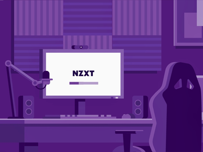 NZXT Setup gaming stream stream setup setup vector illustration simple vector vector illustration nzxt