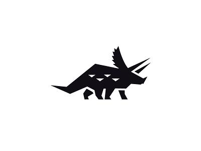 Triceratops Logo logo design design simple logo vector logo vector flat logo logo negative space logo negative space dino logo dinosaur triceratops