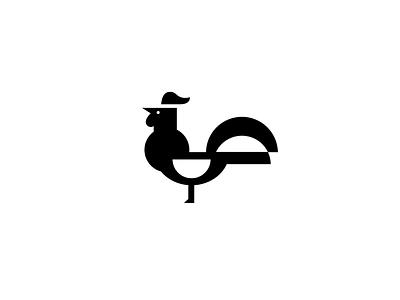 Chicken Icon icon glyph negative space vector illustrator adobe logo