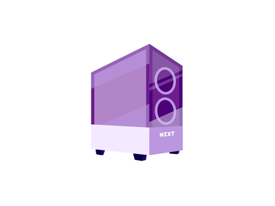 NZXT H510 Elite Sticker desktop shiny purple computer discord nzxt pc