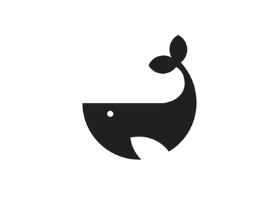 Whale Mark negative space whale icon whale logo icon logo illustrator vector mark geometric whale