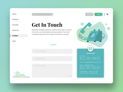 UI Contact Page illustrator phone icon contact vector page contact page icon ux ui