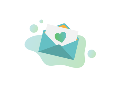 Favorites Greeting Card Icon illustrator greeting card card mail letter love letter ui vector icons icon mail icon