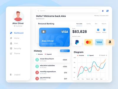 Dashboard - Mobile Banking uxdesign uidesign ux uiuxdesign uiux ui