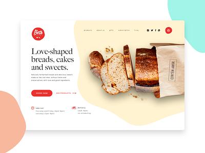 Beth Bakery Website - Redesign redesigned brazil web bread bakery redesign
