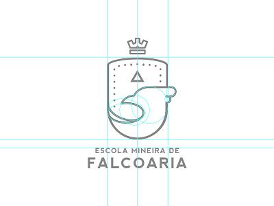 (WIP) Brazillian Falconry School type logo wip branding