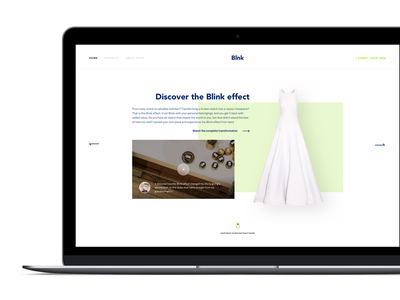 Blink makers restore product layout web