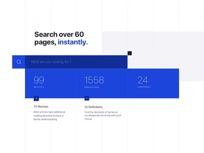 Instant Search UI animation