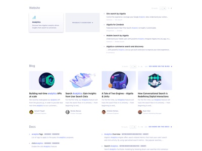 Algolia Search product design popular suggestion query empty state search results results search bar search