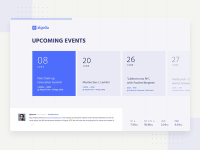 Upcoming Events Timeline - Internal Tool web talks product design calendar timeline events