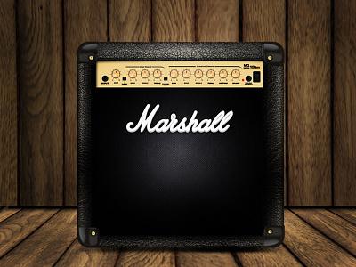 Box Marshall design guitarr sound music song cube marshall