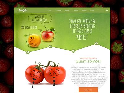 Verdfrut Website wireframe website site ui ux responsive js css html5 interface fruit verdfrut
