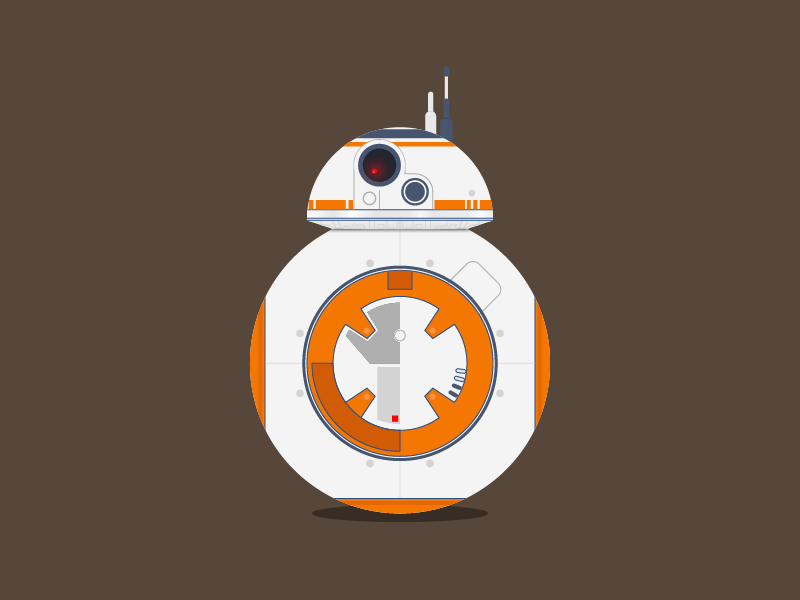 BB8 - Robot Droid adobe illustrator ilustração animação droid android bb8 star wars sw
