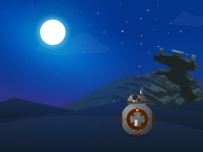 bb-8 minimalist android droid nerd geek vector bb8 star wars
