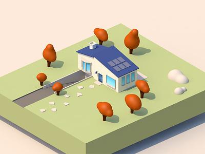 Flat House 3d flat