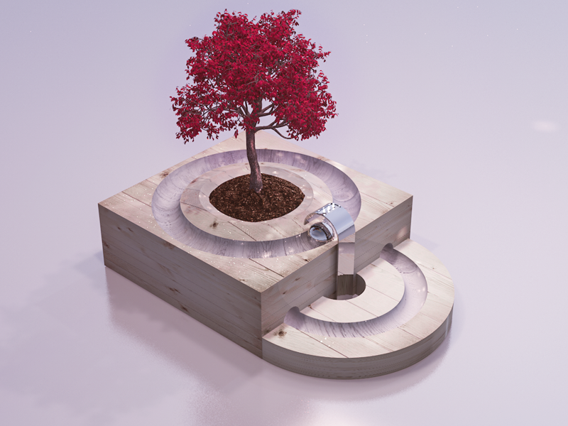 Nature Box arctecture design 3d box nature