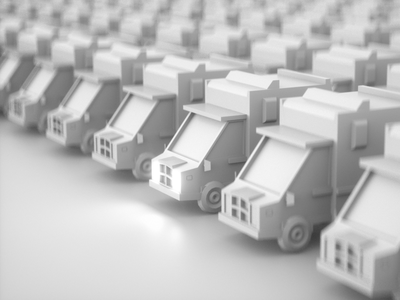 Low Poly truck monocromatic poly mobile c4d black and white 3d low poly truck