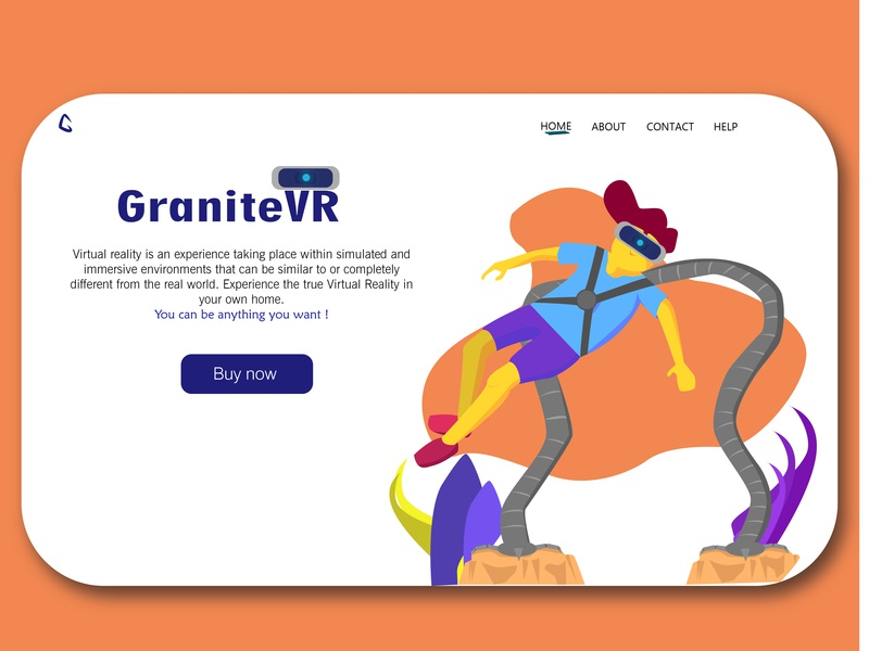 Granite VR landing page concept website landing page design landingpage web ui illustration art flat branding vector illustration design