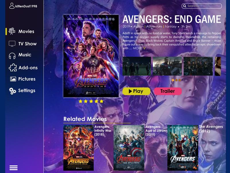 Movie Platform Concept movie app website landingpage icon landing page design ux web ui design