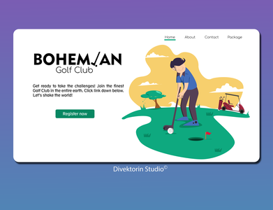 Golf Club Landing Page Concept