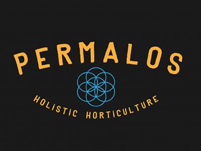 permalos logo concept vintage horticulture permaculture retro