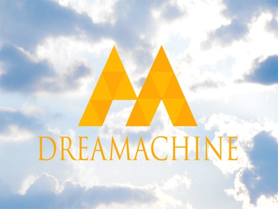 Dream Splash Page dreamachine clouds triangle m serif
