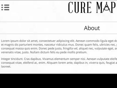 CureMap Logo & Wireframe wireframe logo abraham lincoln open sans