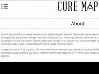 CureMap Logo & Wireframe