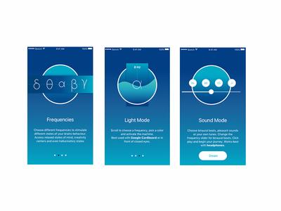 Dreamachine Walk Through illustration dreamachine ui intro app