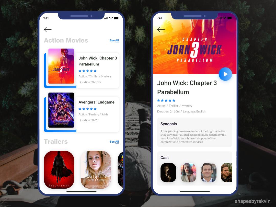 Movie app concept.