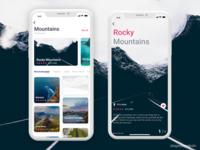 Travel app concept.