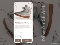 Discover shoe concept.