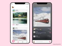 Social app UI concept
