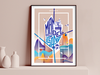 WELCOME TO MANOEL ISLAND - Illustrated Poster