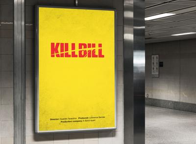 Kill Bill Minimalism Movie Poster