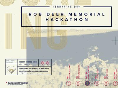 Hackathon Poster baseball overlay typography poster hackathon