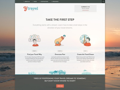 yTravel Blog - 12 Steps to Travel landing page