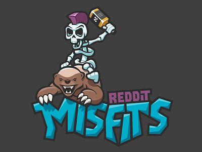 Reddit Misfits - Clash of Clans logo logo typography black punk mohawk skeleton whiskey purple teal honey badger clash of clans