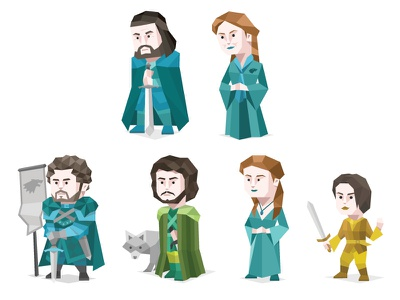 Game Of Thrones House Stark cartoon person famous origami geometric personality type typology character stark game of thrones