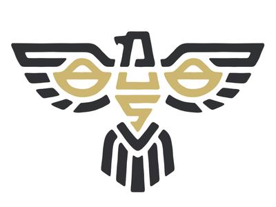 Us Tax Services Logo Symbol tax digital nomad balance gold scales lawyer mayan inca line belize usa eagle
