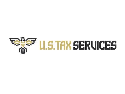 Us Tax Services Logo symbol logo line art scales lawyer tax bird eagle line ancient