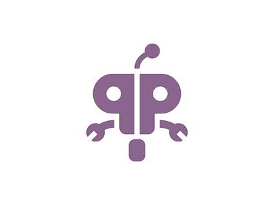 Path Prober droid comp bot eyes antenna symbol flat icon logo wheel purple robot droid
