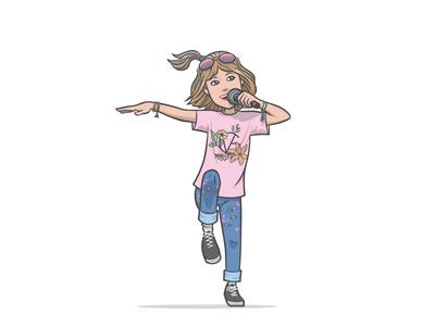 Grace VanderWaal Character music dancing singing illustration character grace vanderwaal