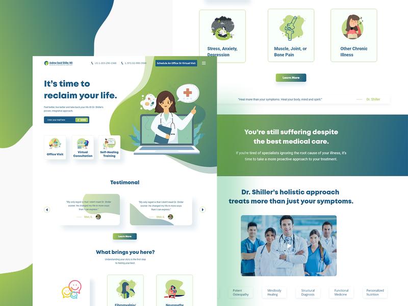 Doctor Landing page branding doctor app doctor design doctors doctors landing page doctor home page web design graphic landing page design agency branding website concept website landing page