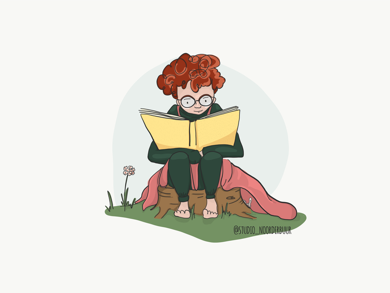 Bookworm cartoon childrens illustration characterdesign story telling card design illustration vector