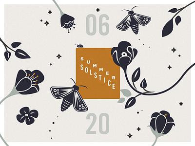 summer solstice butterfly moth fauna flora leaves season floral vector flower solstice summer
